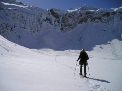 Racchette da neve dal parco naturale di Sorteny