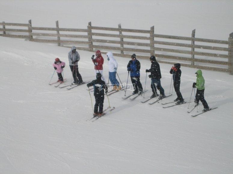 Clases grupales esqui