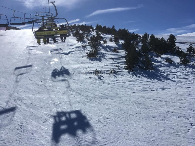Skiing course in La Molina