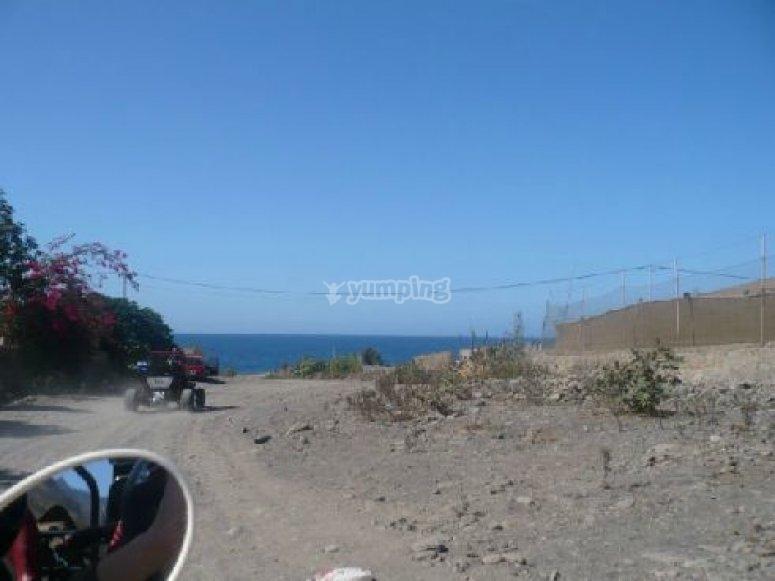 Paseando en buggy por Gran Canaria