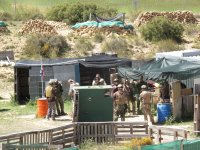 Preparandose en el campo de airsoft