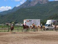 A caballo por la pista exterior