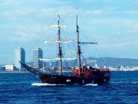 Barco clasico en Barcelona