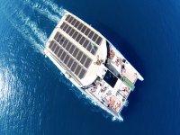 Vista aerea del catamaran