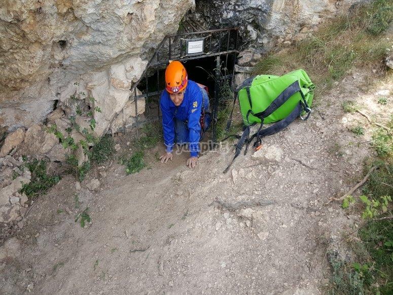 Lasciando la grotta di Utrillas