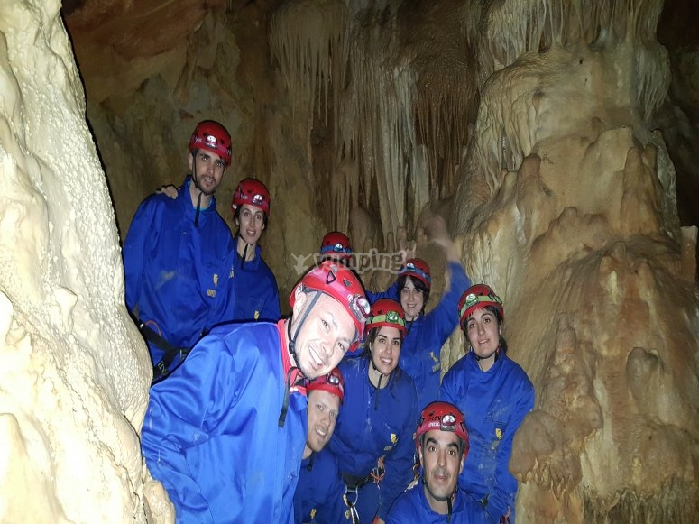 During the spelunking expedition