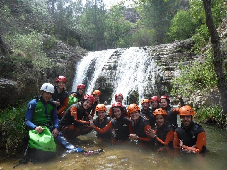 Foto en la cascada del barranco