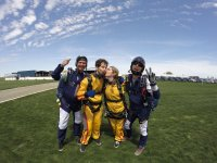 Skydivers ready