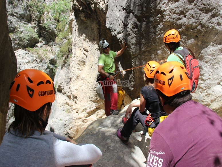 Canyoning con amici a Teruel
