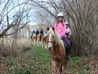 Saliendo a caballo por Vall den Bas