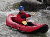En open kayak