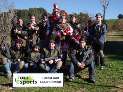 Bachelor party with laser tagging in Caldes