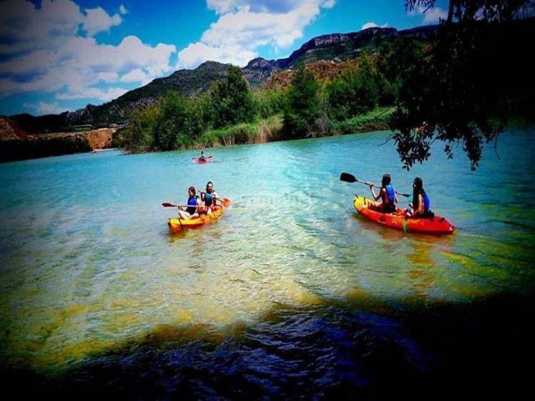 Actividad de canoas