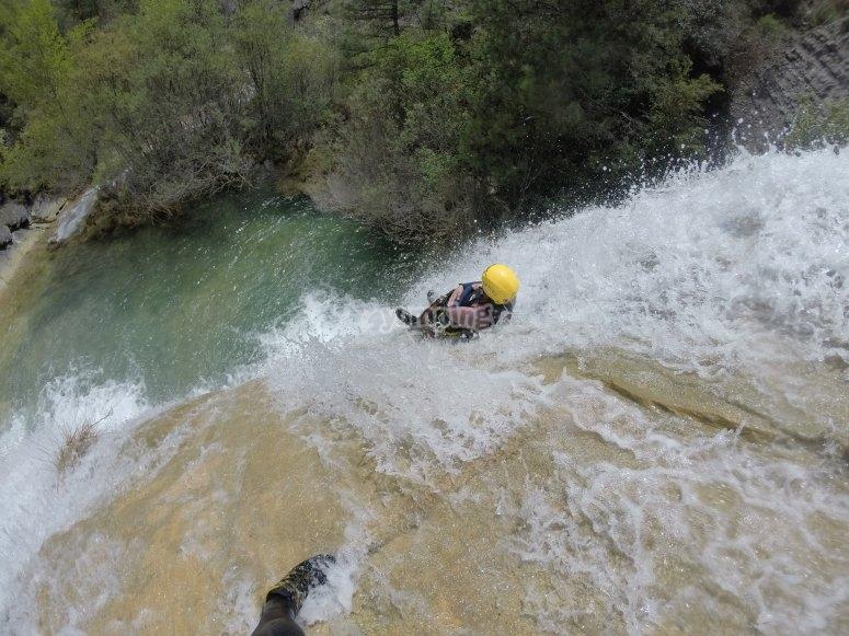 Aquatic slide at the ravine