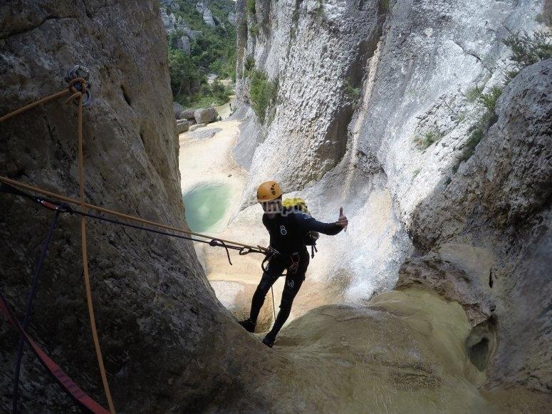 Descending the Bòixols canyon