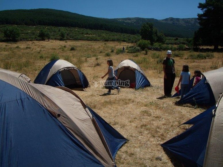 Campeggio in campagna