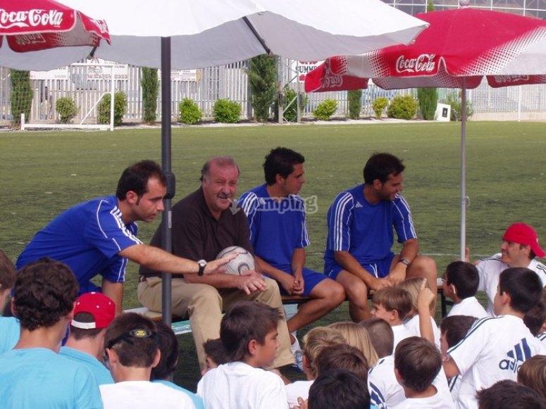 Football camp Vicente del Bosque