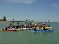 Kayaking and group activities in Sancti Petri