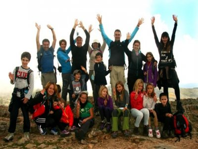 Hiking route for kids in Guadarrama mountains