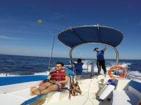 Potente barca per sollevare il paracadute