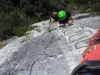 Recorrido de vía ferrata en Cantabria