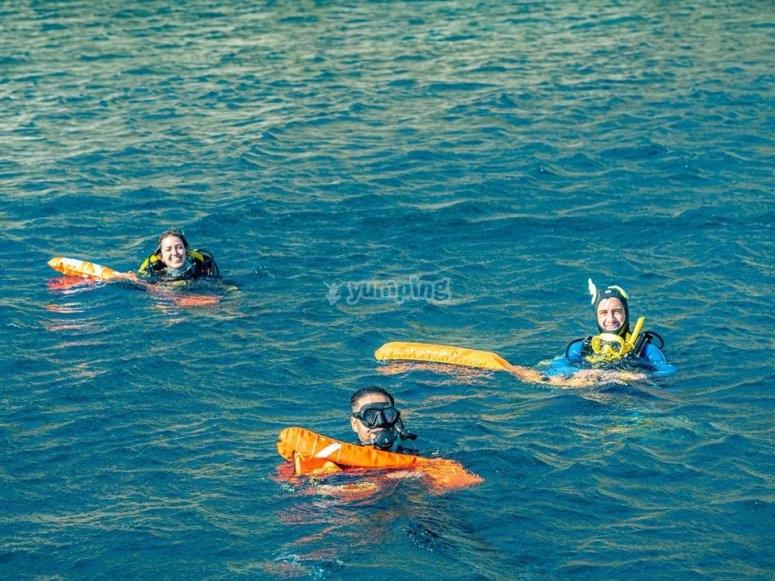 准备-情侣进行第一次潜水
