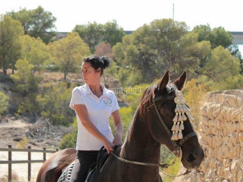 lista para la ruta a caballo en alicante