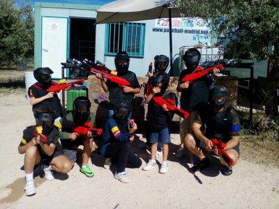 Paintball infantil en Campo Real niños 8-12 años