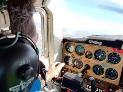 Light Aircraft Flight over San Juan Beach 15 min