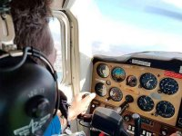 Pilotando una avioneta