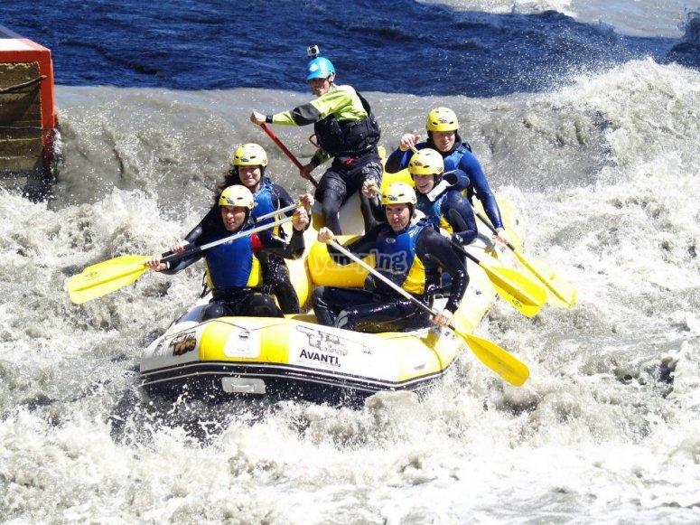 Sesión de rafting