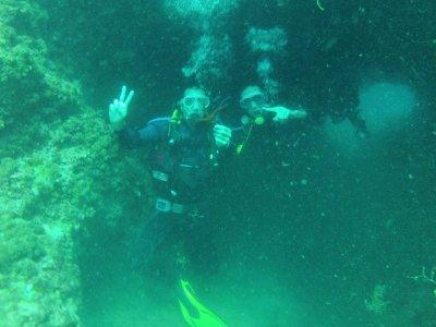 Bautismo de buceo en el mar de Valencia