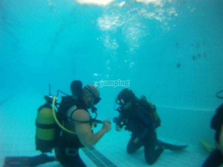 Inmersion en piscina