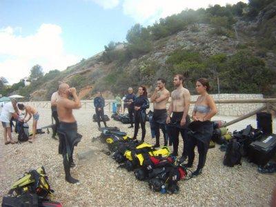 Curso buceo Open Water Diver en piscina y mar