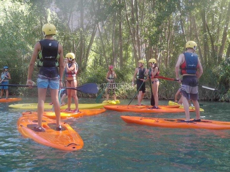 de ruta en paddle surf