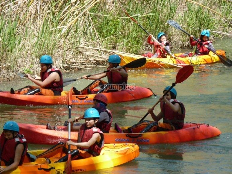 Percorso in canoa