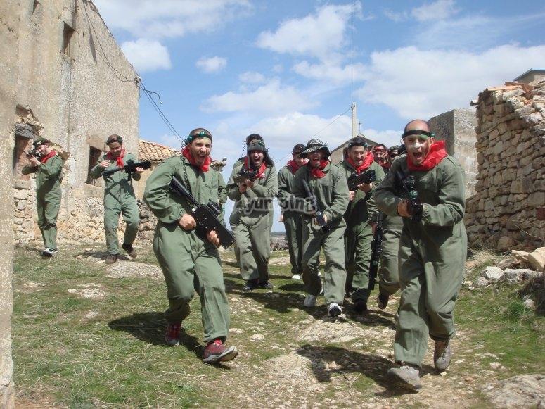 Soldados de laser combat