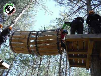 Multi-adventure circuit in camping in Utrillas