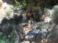 Descending a ravine
