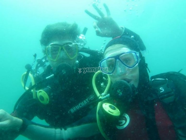 Diving in Mataró