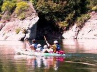 Four-seater canoe
