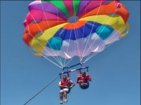 Flight for two in parascending