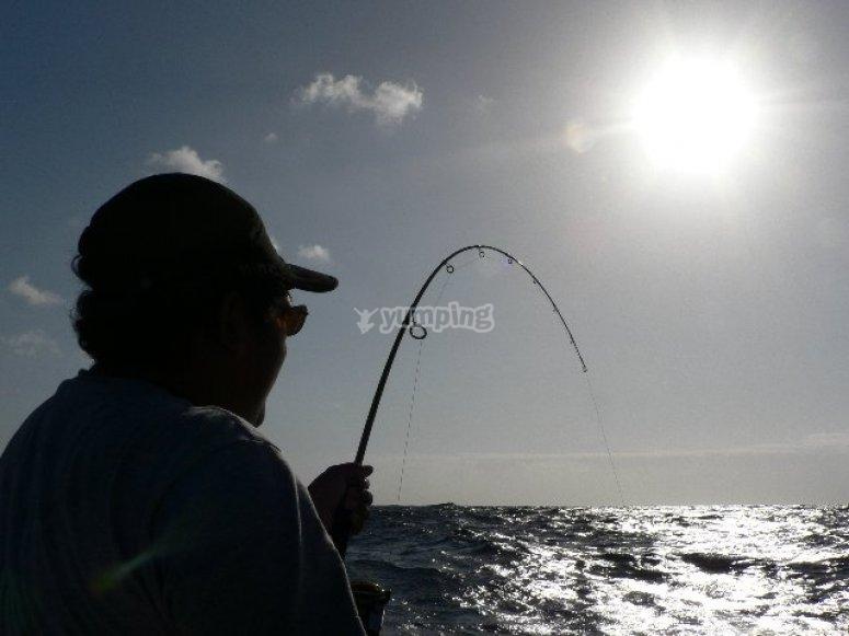 Pescando en Barcelona