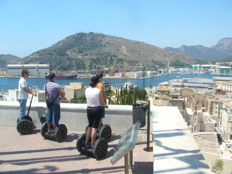 Segway route in front of the sea
