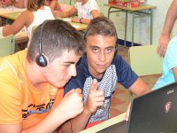 Actividades de informatica en el campamento de Castellon