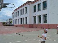 Baloncesto en el campamento de Castellon