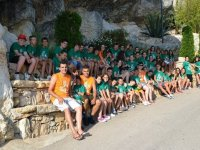 Participantes del campamento en Castellon