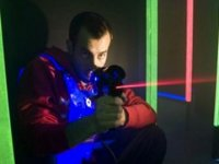 firing laser tag