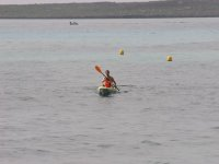 Kayaks en familia en la costa de Sant Lluis