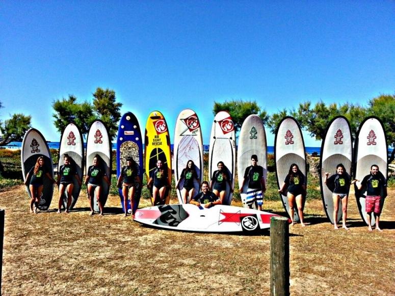 Surfing in Noja